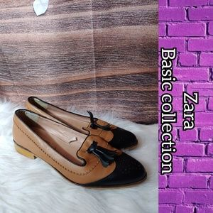 Zara basic collection leather flats euro 39 US 9